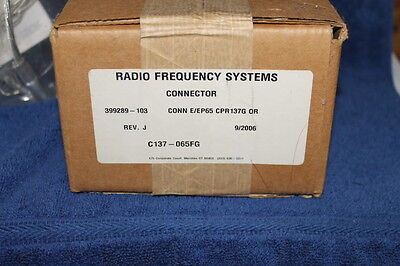 RADIO FREQUENCY SYSTEMS CONNECTOR CPR137G E/EP65 39928 w/extra's see description