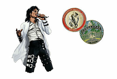 Michael Jackson - The Neverland 24 Karat Gold Plated Limited edition Coin