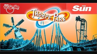 The Sun 2 Free Thorpe Park Tickets Worth £100 - Booking Form & 10 Tokens