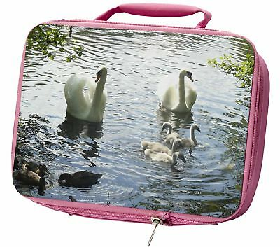 Swans and Ducks Little Girls Small Pink Shopping Bag Christmas Gift AB-S10BMP