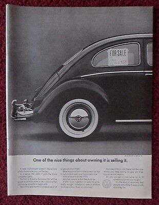 1966 Print Ad Volkswagen VW Bug Beetle Automobile Car ~ One of The Nice Things
