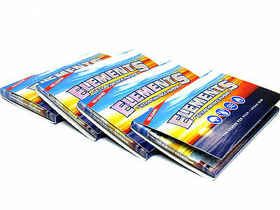 Elements 1½ Ultra Thin Rice Rolling Papers Single Wide - 4 Packs - 100 Leaves EA