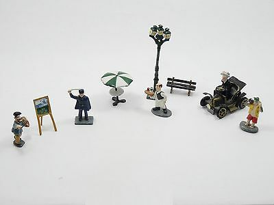 LOT of 9 pcs RARE J CARLTON BY GAULT FRENCH MINIATURE ACCESSORIES FIGURINE PARIS