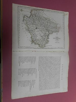 100% Original Devonshire Map By  John Cary C1787 Vgc Low Postage
