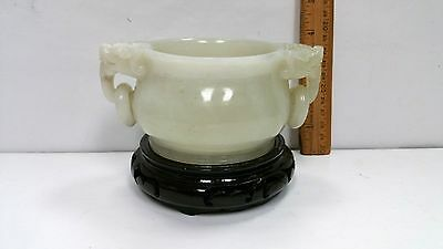 Antique Chinese White Jade Bowl with GIA Certificate