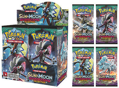 NEW! Pokemon TCG Sun and Moon Guardians Rising 5 Booster Packs 10 cards/packet
