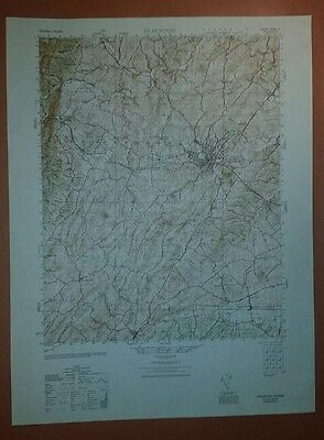 1940's Army topographic map Staunton Virginia -Sheet 5160 II