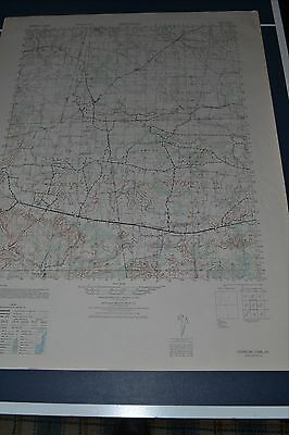 1940's Army topographic Map Herndon Tennessee -Sheet 3457 III Camp Campbell