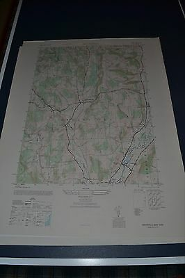 1940's Army topographic map Brookfield, New York NY Sheet 5969 IV SE