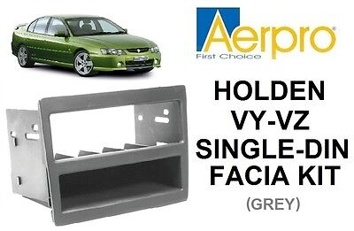 Aerpro - Holden Commodore Vy-Vz Single-Din Facia Kit Pocket Dash Panel Grey