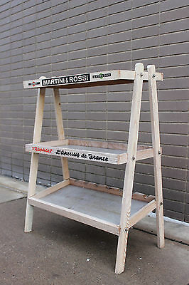 SHABBY Martini & Rossi Advertising Store Display wine rack Primitive vintage