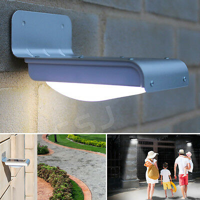 Outdoor Wireless Solar Powered PIR Security Motion Sensor Flood Wall LED Lights