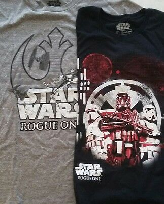lot of New Men's Small Star Wars Rogue One T-shirts (2) NWT