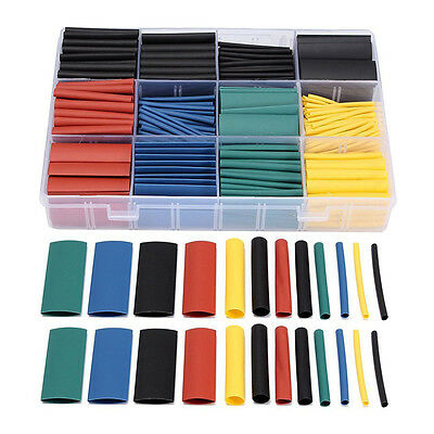 530pcs Heat Shrink Wire Wrap Cable Sleeve Tubing Sets Electric Insulation N9P2