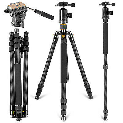 "Neewer Carbon Fiber 66"" Tripod Monopod with 360 Degree Ball Head for DSLR"