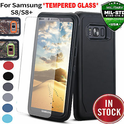 SAMSUNG GALAXY S9 Plus/S8 HEAVY DUTY IMPACT Case Tempered Glass Screen Protector