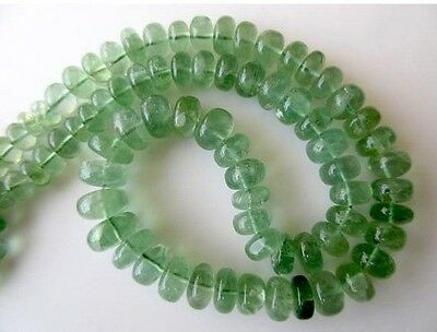 Huge Smooth Green Fluorite Rondelle Beads 6-12mm Each 17 Inch Strand GDS608