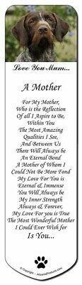 German Wirehaired Pointer 'Love You Mum' Bookmark, Book Mark Chris, AD-GWP1lymBM