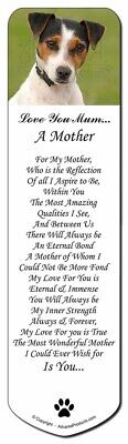 Jack Russell Terrier Dog 'Love You Mum' Bookmark, Book Mark Christ, AD-JR57lymBM