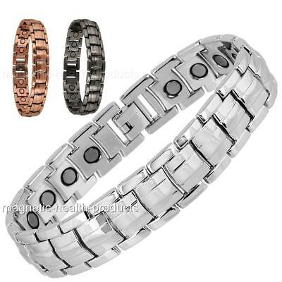 Men's Magnetic Healing Bracelet Bangle Silver Copper Arthritis Pain Relief