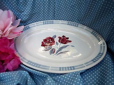 Ancien PLAT OVALE  SARREGUEMINES & DIGOIN MODELE TROYES SHABBY CHIC