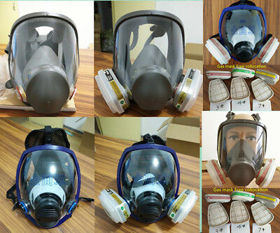 Gas Mask Full Face Facepiece Respirator Suit Painting Spraying  Similar 3M 6800