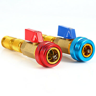 2PCS Air Conditioning R134A Valve Core Remover Installer High Low Pressure Tools