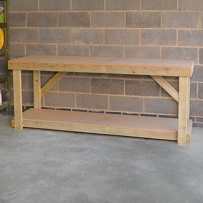 New MDF Large Wooden Work Bench, Heavy Duty, Strong & Sturdy, Hand Made In UK
