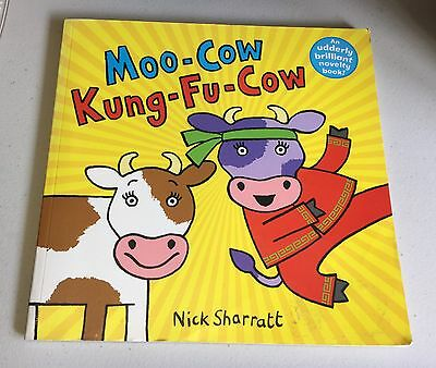 Moo-Cow And Kung-Fu Cow Pop Up Book by Nick Sharratt 2009 Alison Green Books