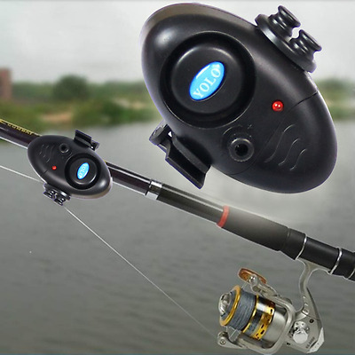 Electronic Night Bite Fishing Alarm Alert Bell Clip on Rod with LED Light