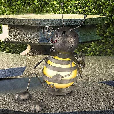 MIA Bees Solar Lamp Ø210mm/LED/Colourful/Yellow/Metal/lamp Garten Decoration