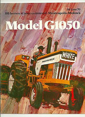 Minneapolis Moline Model G1050 Tractor Brochure White LP Gas Diesel