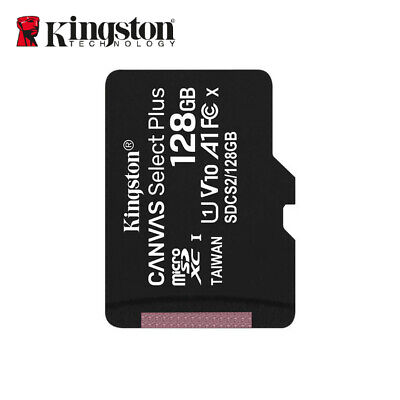 Kingston 80MB/s 128GB Micro SD SDXC UHS-I Class10 Memory Card with Free Adapter