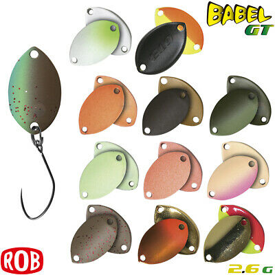 Assorted Colors ROB LURE BABEL GT 2.6 g Trout Spoon