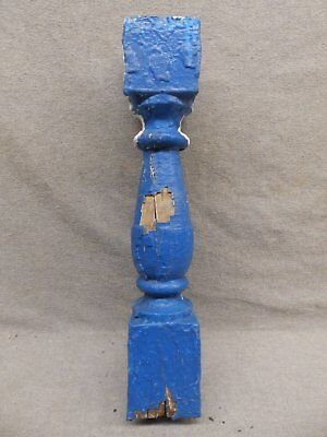 1 Antique Turned Wood Spindle Porch Baluster Thick Old Vtg Architectural 533-17R