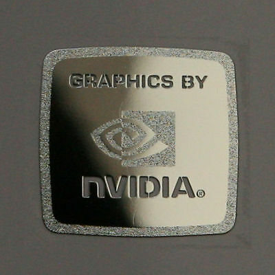 "|WHOLESALE| 5x ""Graphics by Nvidia"" Chrome Metal Sticker 