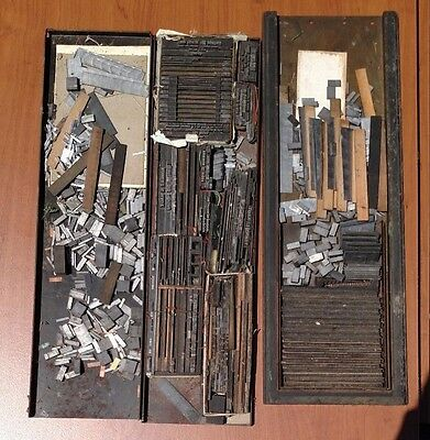 100's of lbs Antique Printing Press Lettering