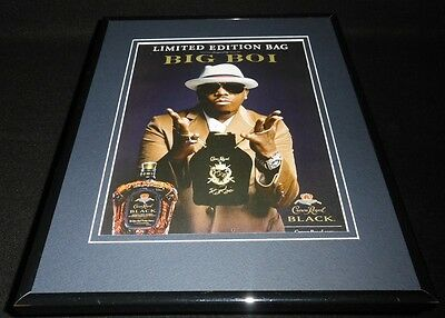 Big Boi 2011 Crown Royal Black Whisky 11x14 Framed ORIGINAL Advertisement