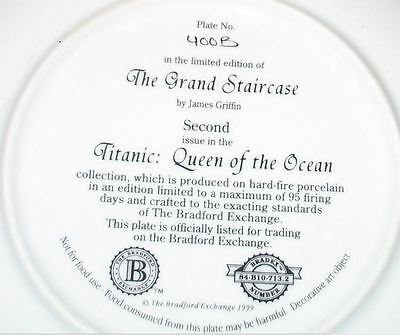 """TITANIC - """"Grand Staircase"""" - Collector Plate - Mint in box with COA"""