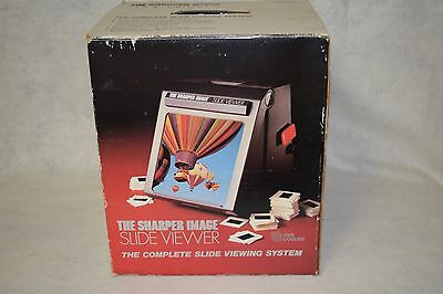 Sharper Image 35mm Magnifying Slide Viewer with Dust Cover & Manual