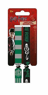 Harry Potter Wristbands Slytherin logo new Official 2x Fabric Strap Festival