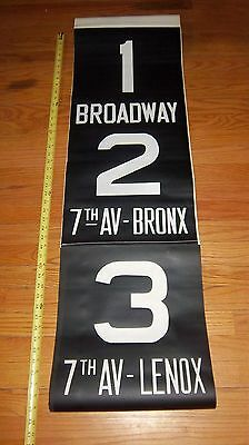 Vintage Nyc Subway R22 Irt Route Collectible Roll Sign Broadway 7Th Ave Bronx