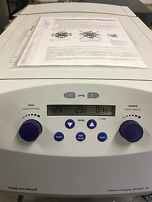 Eppendorf 5702R Centrifuge w Rotor, 4xBuckets, 4 Used And 2 New Vacutainers