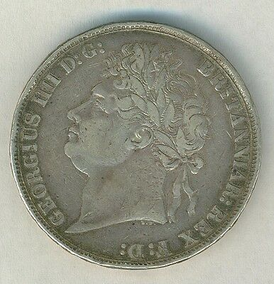 1822 Great Britain silver Crown coin King George IIII
