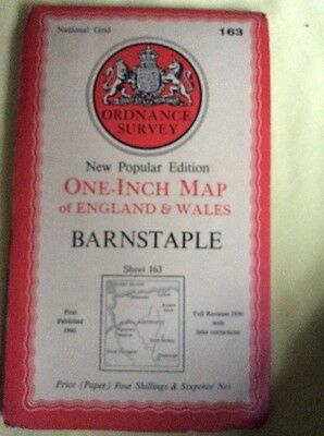 Vintage Ordnance Survey Map Barnstaple With 1957 Revisions