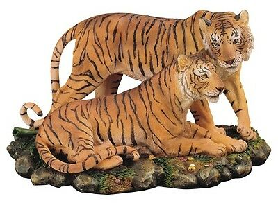 "12"" Bengal Tigers Statue Figurine Safari Wildlife Wild Cat Animal Figure Nature"