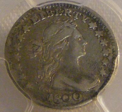 1800 Draped Bust Half Dime PCGS VF 30 ~ Pleasing Coin