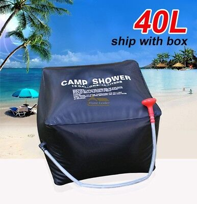 40L SOLAR Water Heated Camping Shower Camp Bag Portable Outdoor Hiking Washing