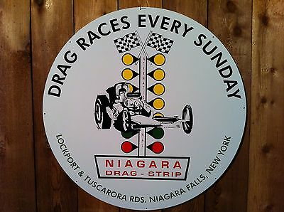 """Steel Large 25.5"""" Niagara Drag Strip Racing Sign-US items ships from US"""