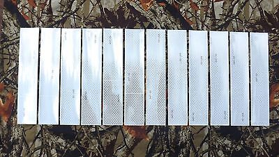 12 of 1 foot long 3M White Conspicuity Reflective Tape DOT-C2